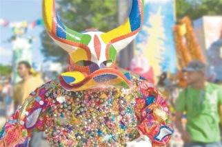 Color, mostacillas, cascabeles y espejitos, forman parte del atuendo de los lechones.