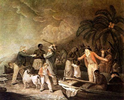 Tráfico de esclavos, en un grabado de Rollet a partir de un cuadro de George Morland. / MUSEO DE LAS ARTES AFRICANAS Y OCEÁNICAS, PARÍS