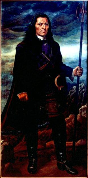 Retrato de Túpac Amaru II en el Museo Nacional de Arqueología, Antropología e Historia del Perú.