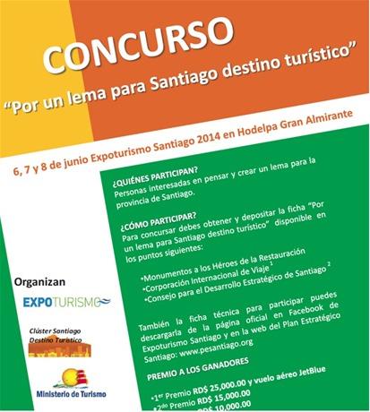 Lema. El concurso promueve la integración del destino Santiago.