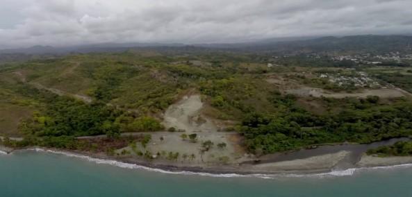 En los 60 metros de la playa, se quito toda la vegetacion incluyendo a manglares