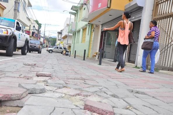 Boulevard sin reparar. (Ricardo Flete)